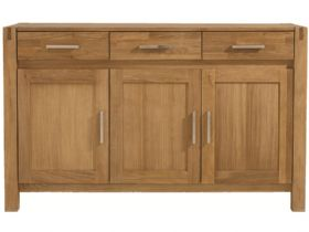 Durham Oak 3 Door Sideboard