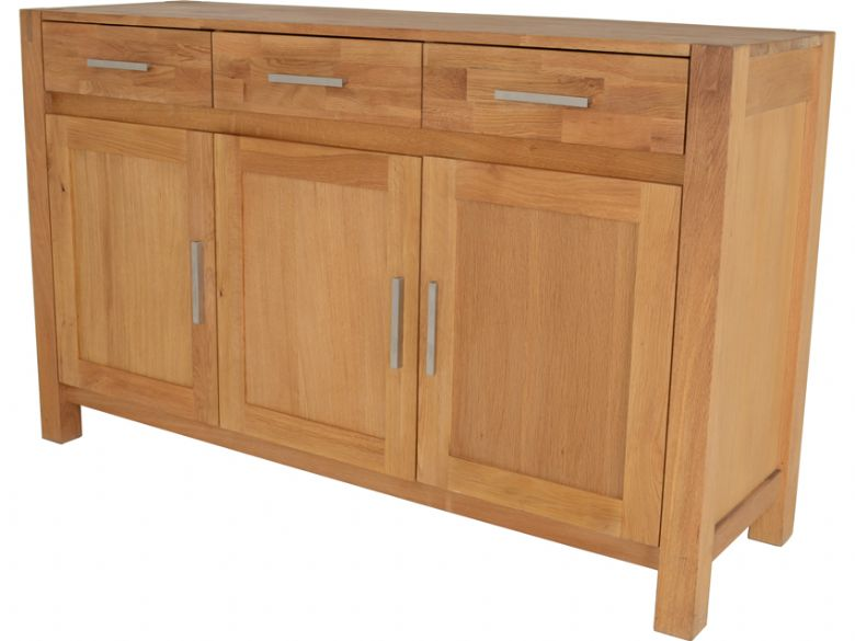 Durham Oak 3 Door Sideboard Side