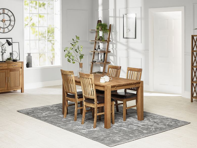 Durham oiled oak dining set
