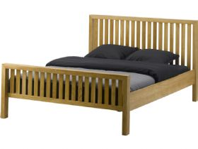 "Barwick oak 4'6"" double bed frame"