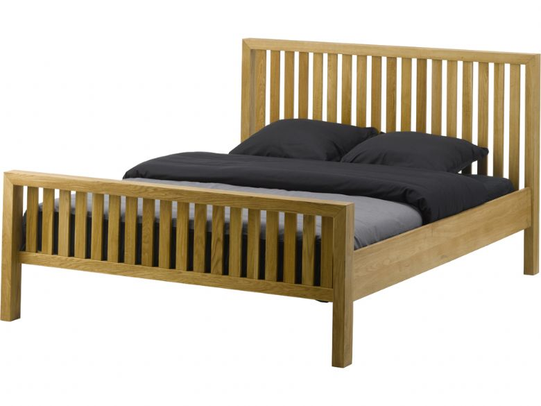 "Barwick oak 6'0"" super king bed frame"