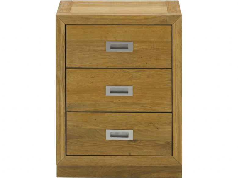 Barwick oak nightstand with 3 drawers