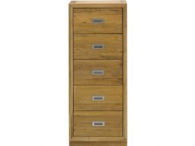 Oak Tallboy with 5 Drawers