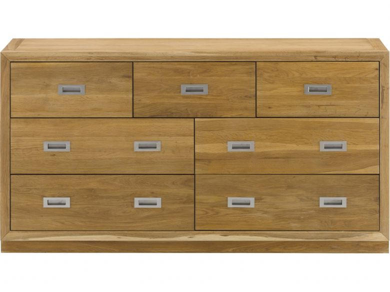 Barwick oak chest with 3 over 4 drawers