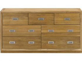 Oak Chest with 3 Over 4 Drawers