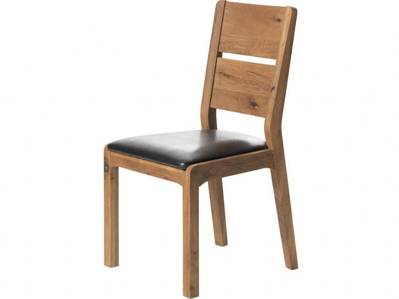 Ellie Dining Chair with Brown PU Seat