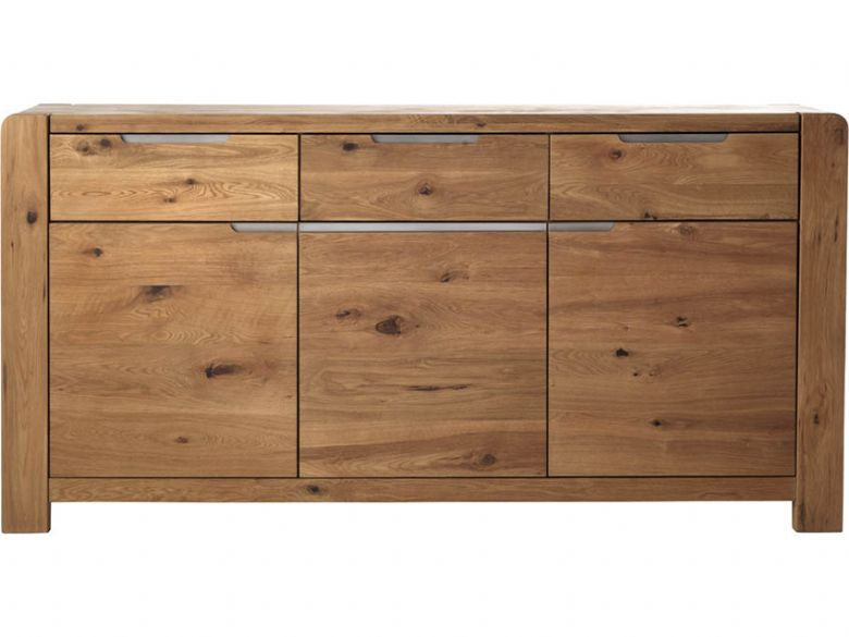 Oak 3 Door, 3 Drawer Sideboard