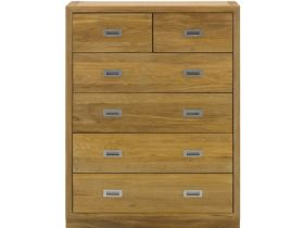 Oak Chest with 2 Over 4 Drawers