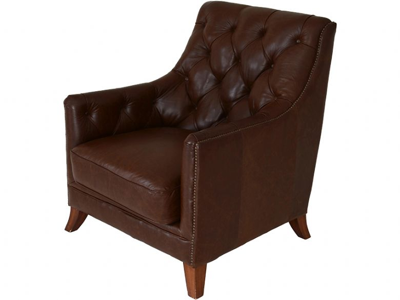 Finna Leather Button Back Chair