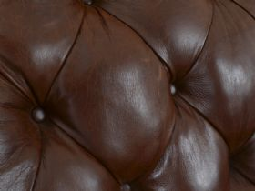 Finna Leather Button Back Chair Detail