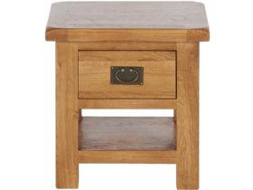 Winchester Oak Lamp Table With Drawer