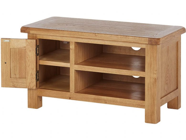 Winchester Oak TV Unit Open