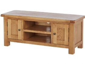 Oak Large TV Unit