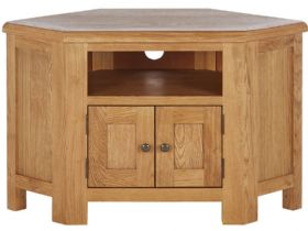 Oak Corner TV Unit