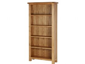 Oak Large Deep Bookcase