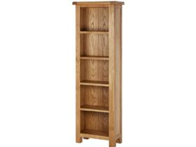 Oak Slim Deep Bookcase