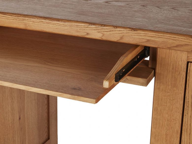 Winchester Oak Double Desk Keyboard Tray