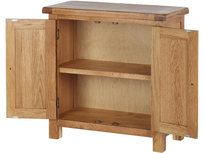 Winchester Oak Mini Cupboard Open