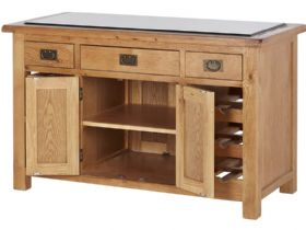 Winchester Oak Kitchen Island Open