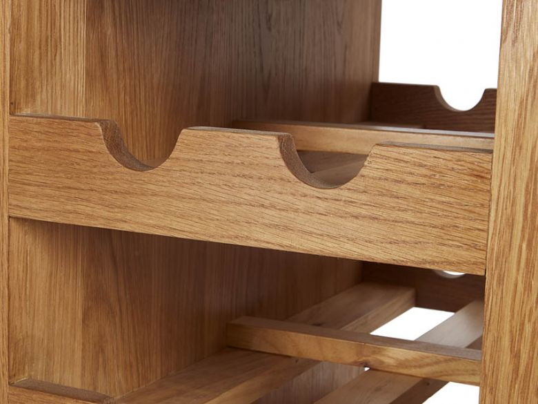 Winchester Oak Kitchen Island Wine Rack