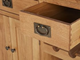 Winchester Oak Kitchen Island Open Drawer
