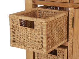 Winchester Oak Kitchen Island Basket