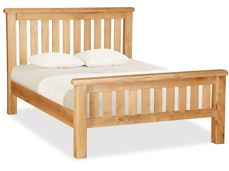Winchester oak king size slatted bedframe