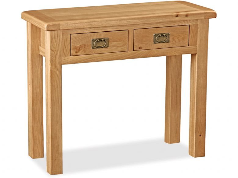 Winchester oak dressing table with two drawers