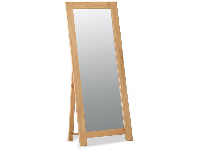 Winchester oak free standing cheval mirror