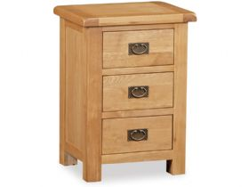 Oak 3 Drawer Wide Bedside