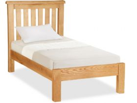 Oak 3'0 Single Low End Bed Frame
