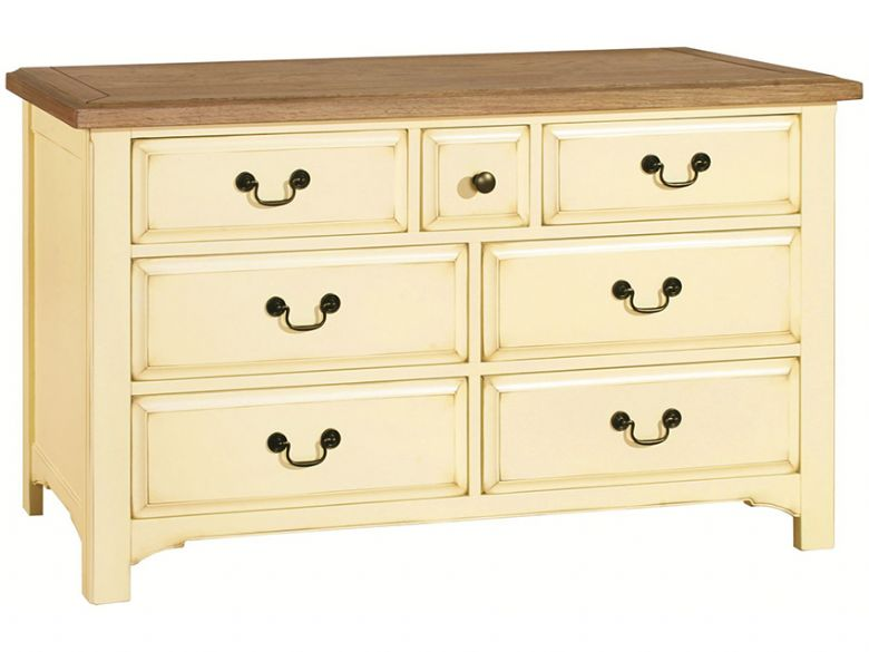 Ivory 3 Over 4 Chest Of Drawers