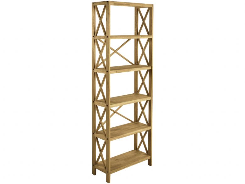 Oak 6 Shelf Unit