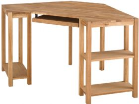 Durham oak corner writing desk