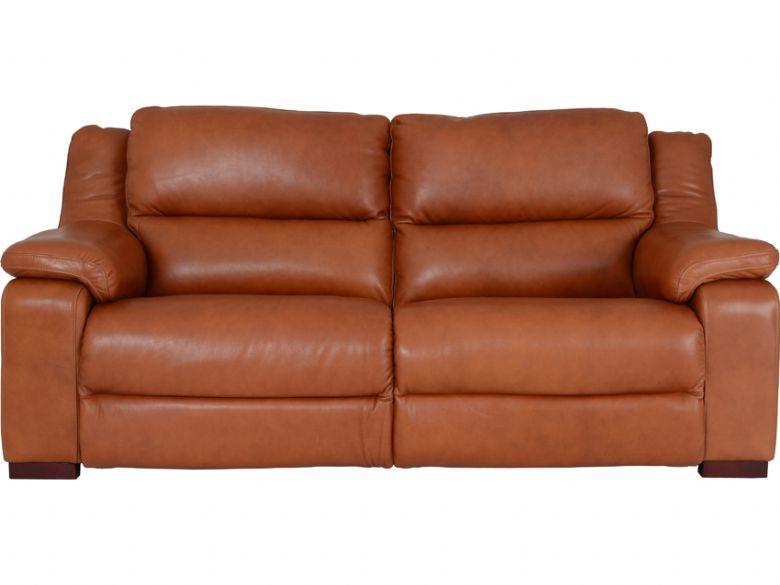 Clara Leather 3 Seater Sofa - Furniture Barn