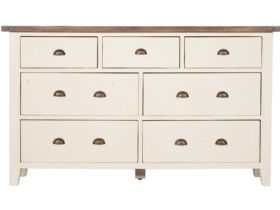 Chalcot reclaimed 7 drawer wide chest