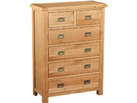 Oak 2 Over 4 Chest