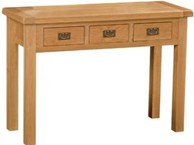 Oak Wide Dressing Table