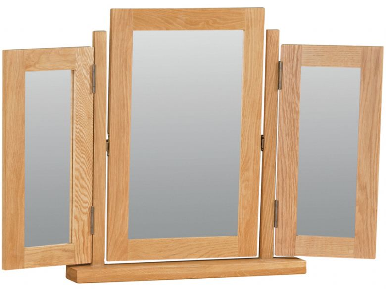Winchester oak triple mirror