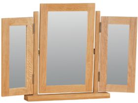 Oak Triple Mirror
