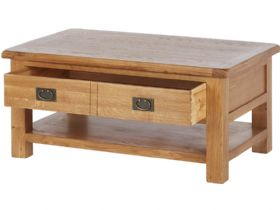 Winchester Oak Large Coffee Table with Shelf