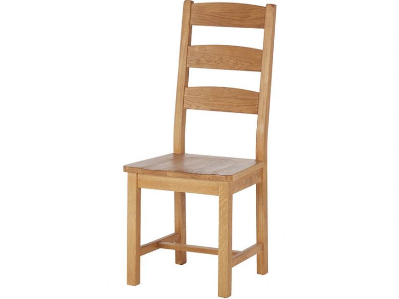 Winchester Oak Ladder Back Dining Chair with Wooden Seat