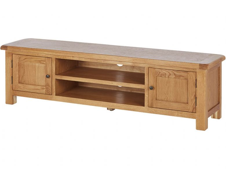 Pleasing Winchester Oak 180Cm Low Line Tv Unit Machost Co Dining Chair Design Ideas Machostcouk
