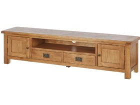 Oak 200cm Low Line TV Unit