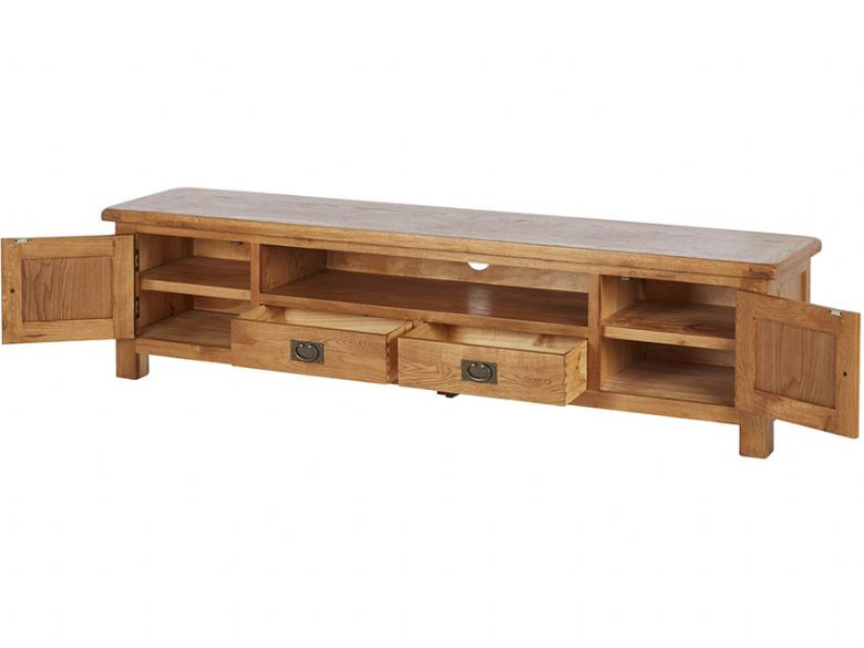 Oak 180cm Low Line TV Unit