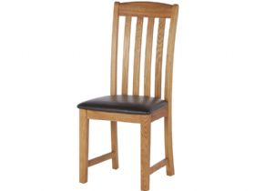 Oak Dining Chair With Vertical Slats