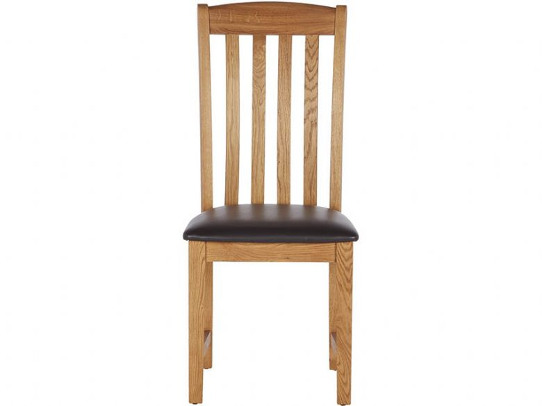 Winchester Oak Dining Chair With Vertical Slats