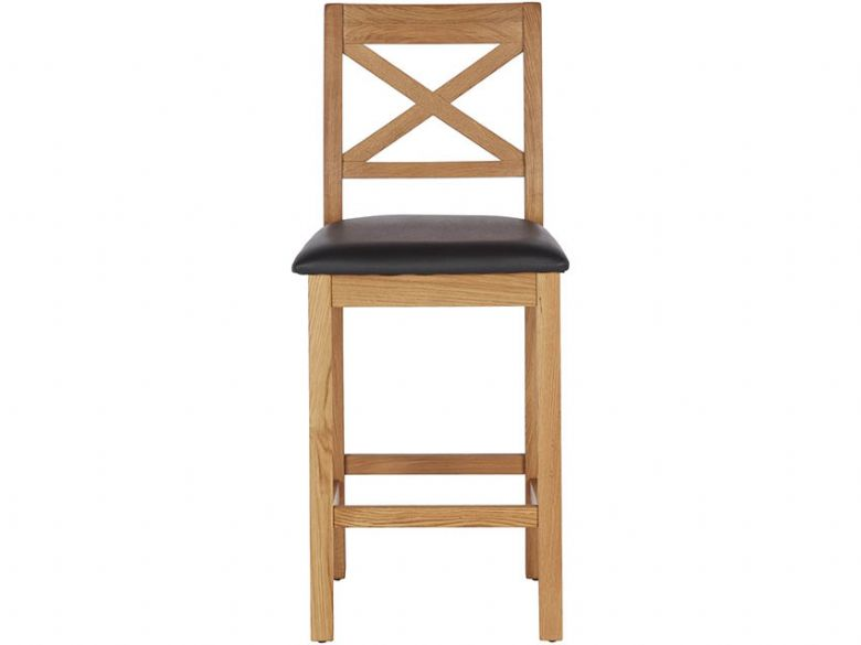 Winchester Oak Barstool With Black Seat