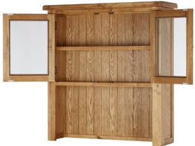 Winchester Oak Small Hutch Open