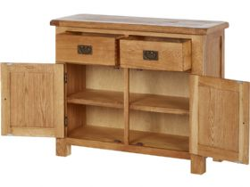Winchester Oak Small Sideboard Open